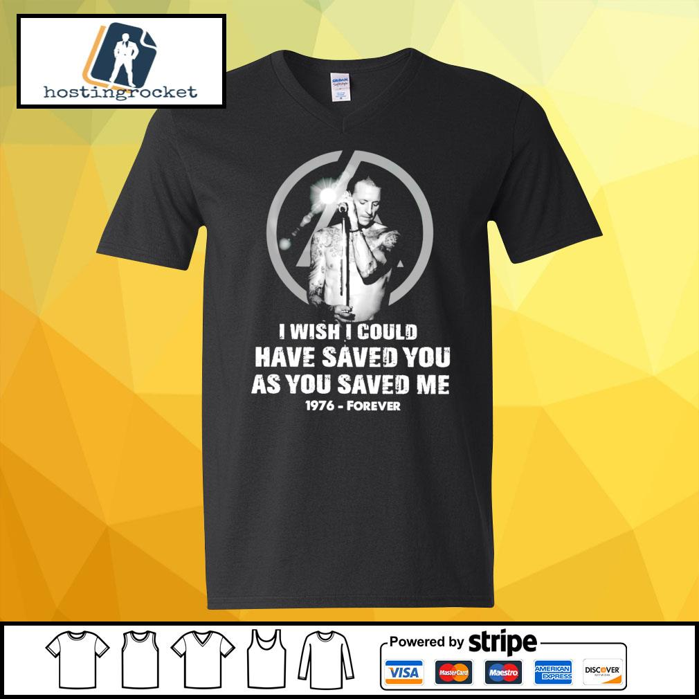 I wish I could have saved you as you saved me 1976 forever s v-neck-t-shirt