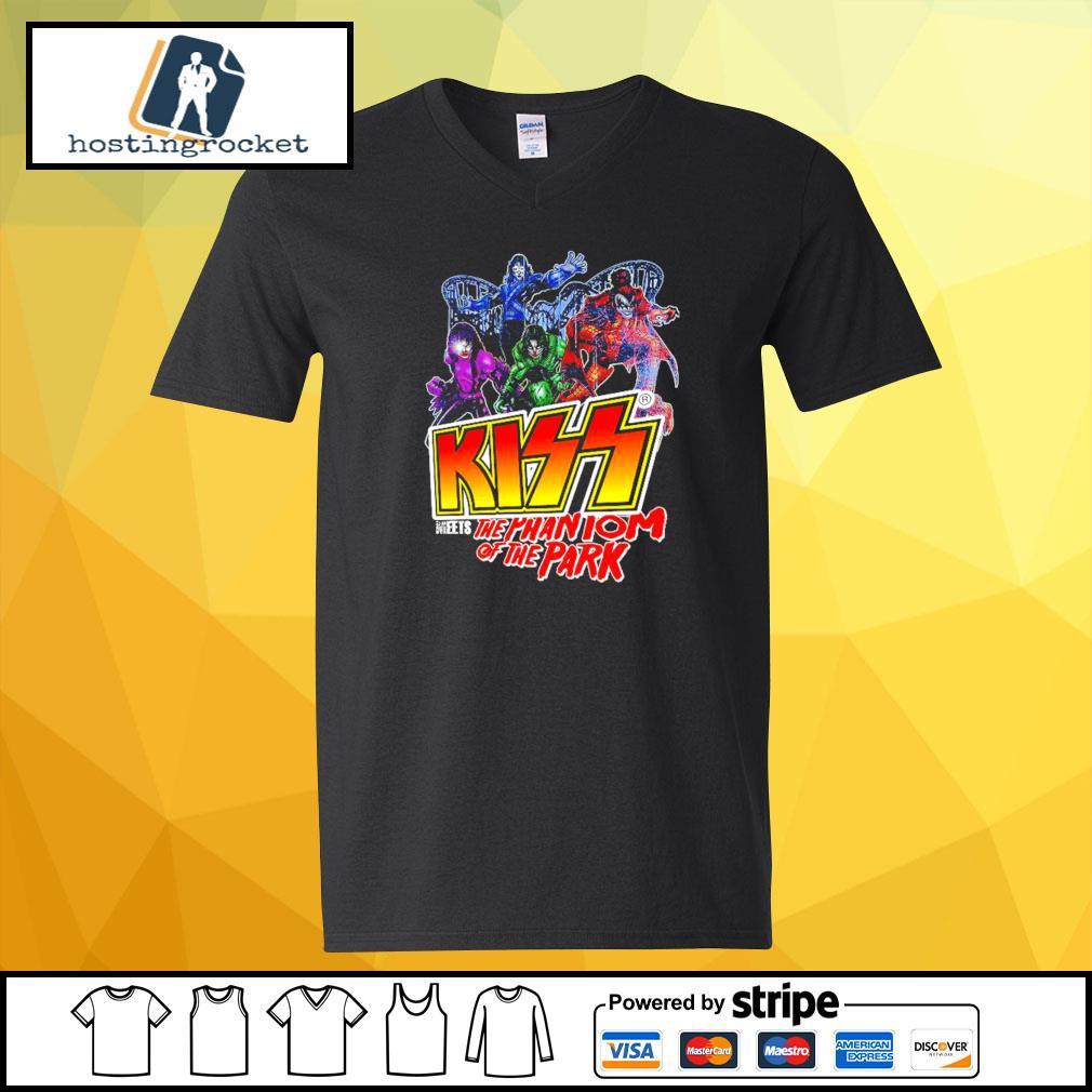 Kiss meets the Phantom of the park s v-neck-t-shirt