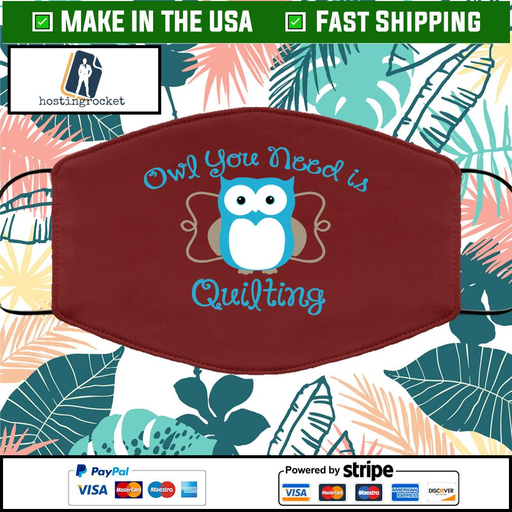 Owl you need is quilting Face Mask Washable Brown