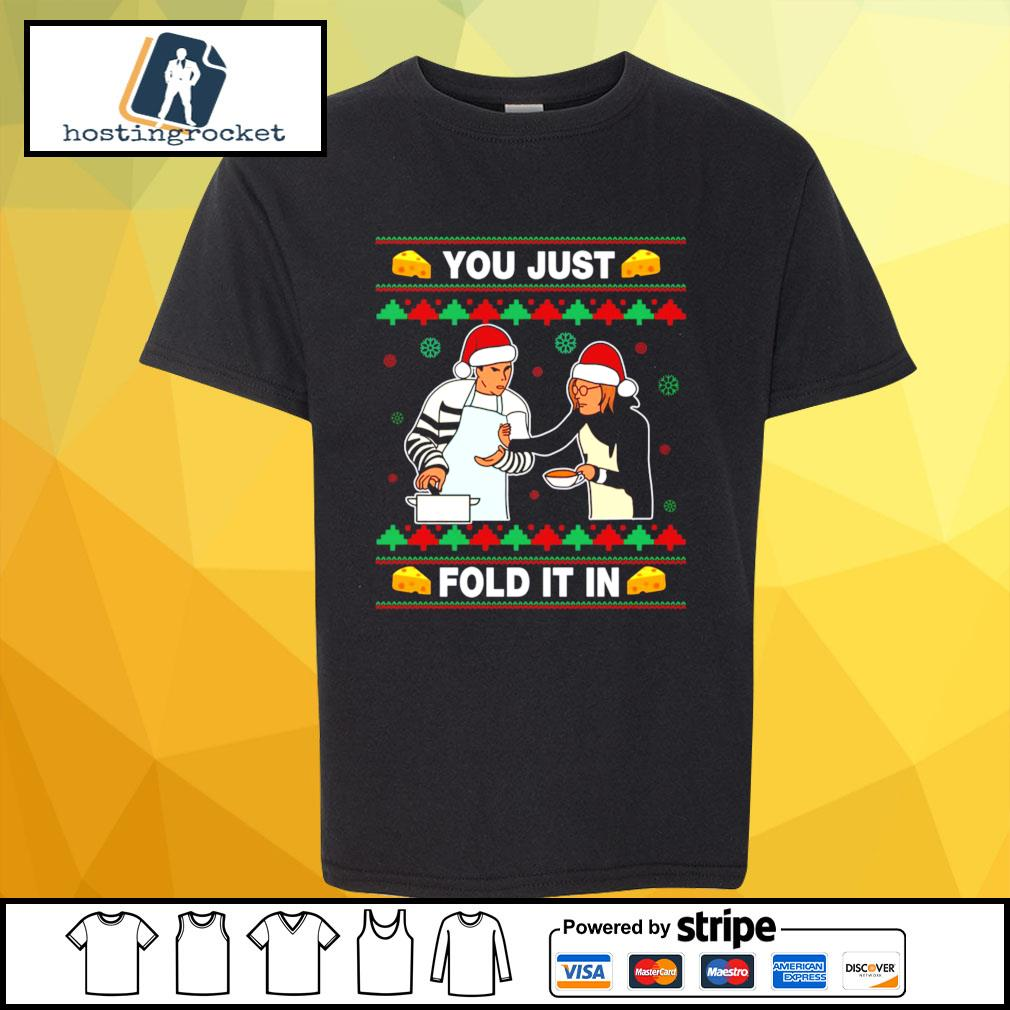 Schitt's Creek you just fold it in Christmas s shirt