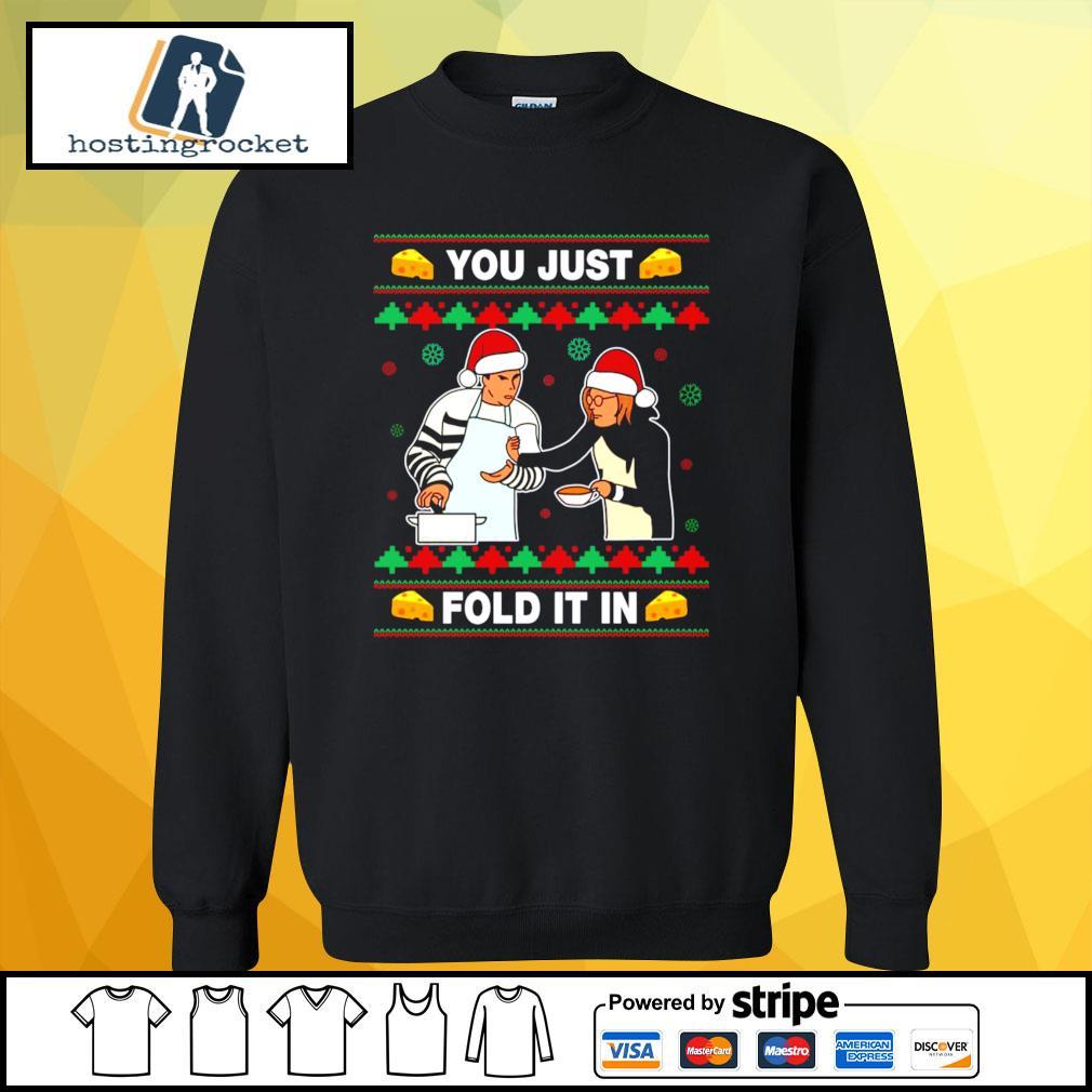Schitt's Creek you just fold it in Christmas s sweater