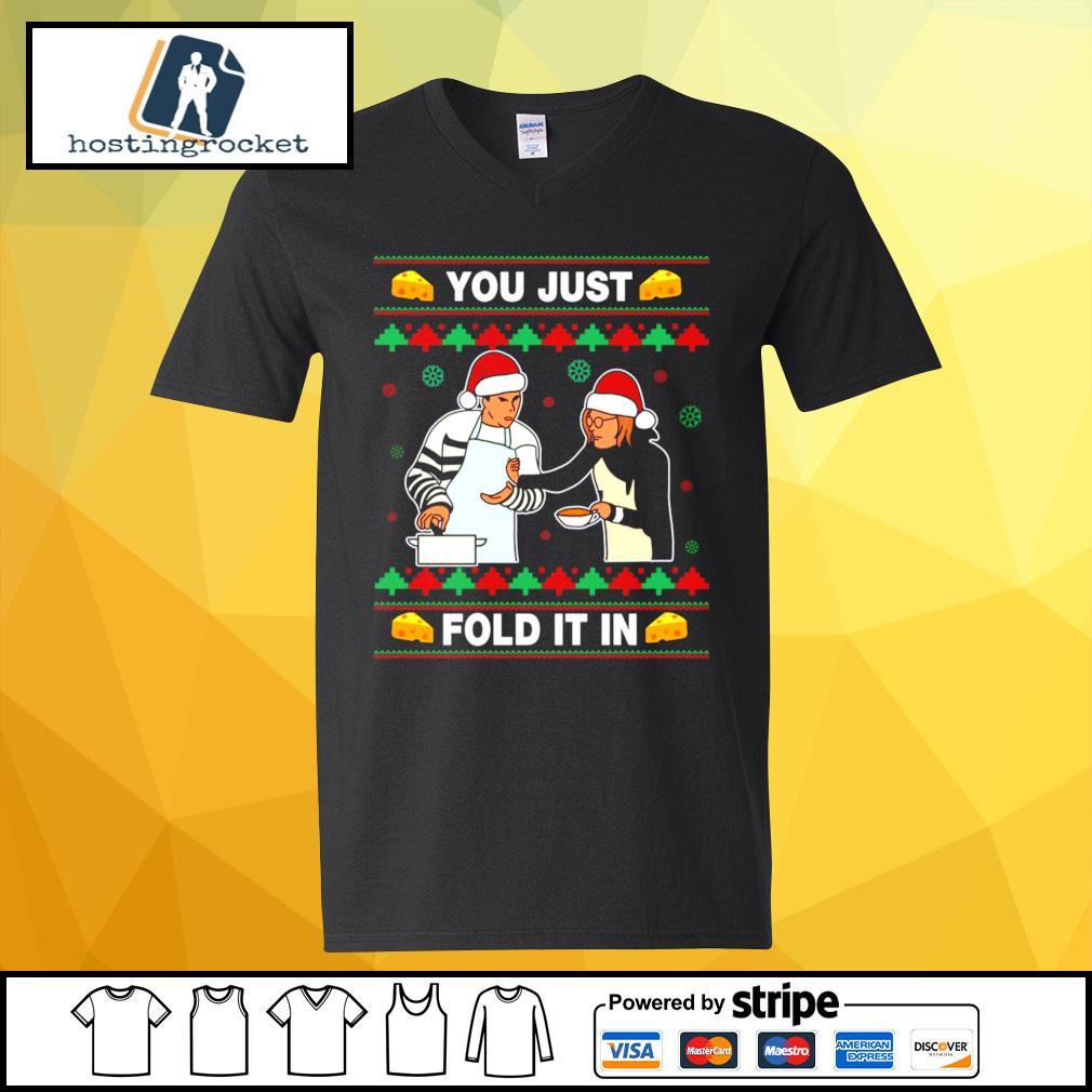 Schitt's Creek you just fold it in Christmas s v-neck-t-shirt