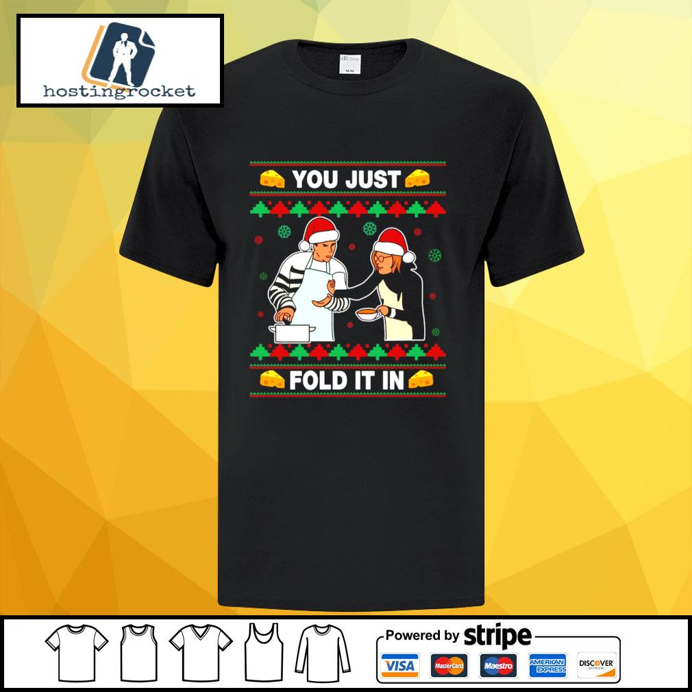 Schitt's Creek you just fold it in Christmas shirt