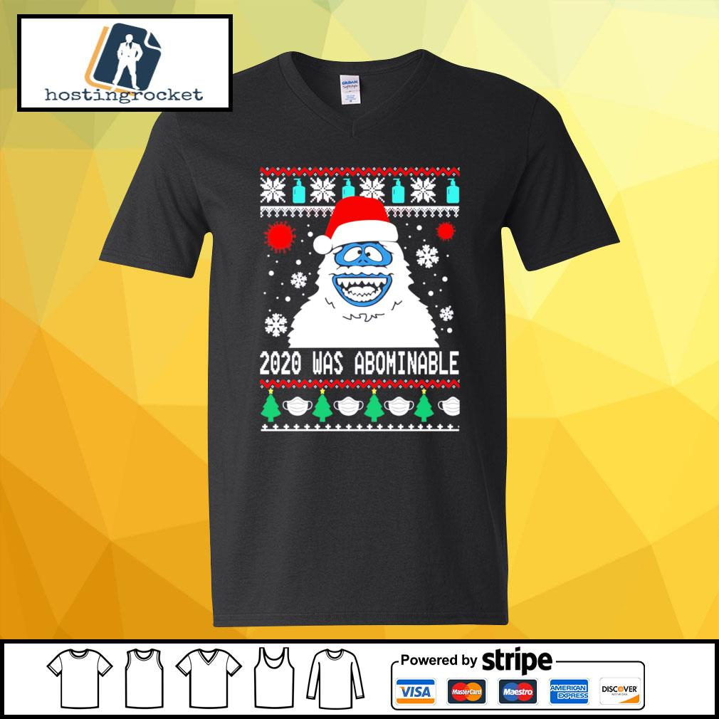 Snowman 2020 was abominable ugly Christmas s v-neck-t-shirt