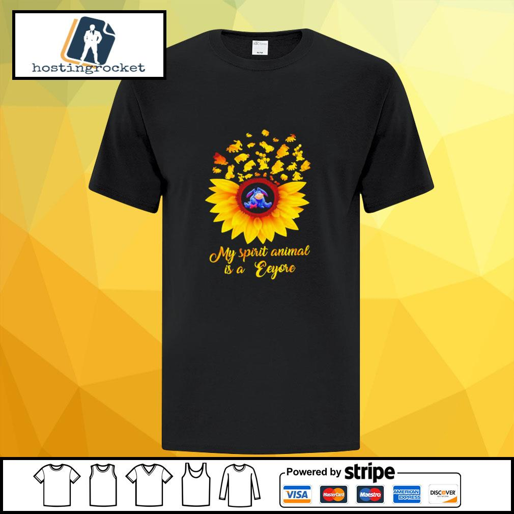 The Pooh sunflower my spirit animal is a eeyor shirt